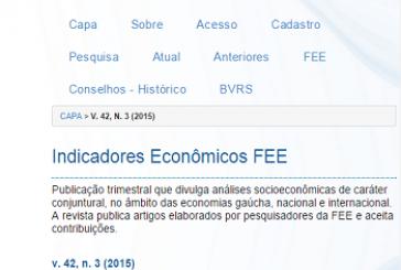 Indicadores Econômicos FEE, v. 42, n. 3, 2015