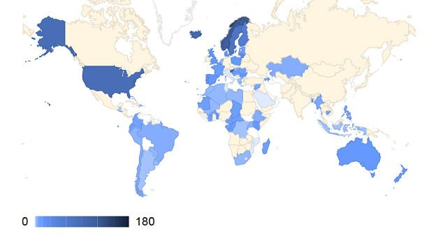 Recentemente, o debate sobre a importância da licença paternidade se intensificou no mundo; mapa mostra períodos de licença para os pais nos países - Arquivo/OIT.