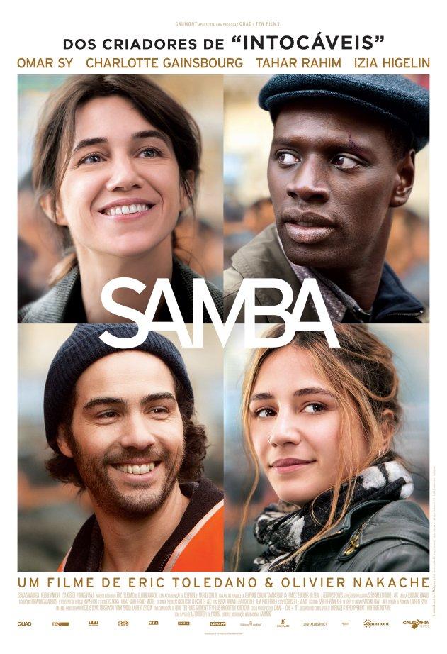 """Pôster brasileiro do filme """"Samba"""". Divulgação"""