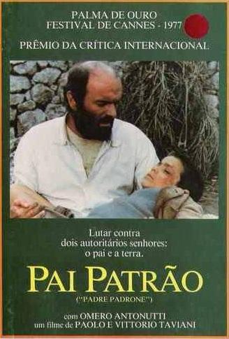 """Capa do filme """"Pai Patrão"""" da versão lançada em formato DVD no Brasil. Fotografia: Divulgação/Versátil"""