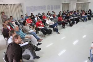 Sindicalistas em uma das aulas do CESIT. Fotografia: Roberto Parizotti/ CUT.