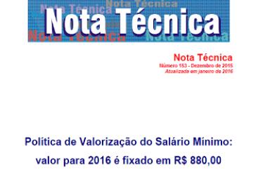 Nota Técnica, n. 153, dez. 2015
