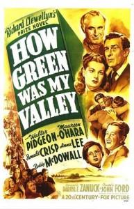 """Cartaz estadunidense do filme """"Como era verde meu vale"""". Fotografia: Reprodução/IMDb"""