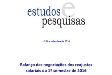 Estudos e Pesquisas, n. 81, set. 2016
