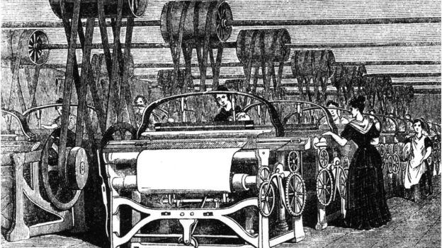 A primeira revolução industrial deu origem à produção mecanizada graças a novidades como o motor a vapor. Ilustração: Hulton Archive