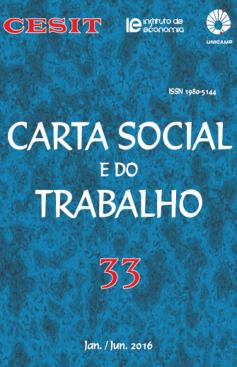 Carta Social e do Trabalho, n. 33, jan./jun. 2016
