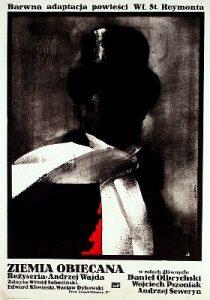 """Poster do filme """"Ziemia Obiecana"""" ('A terra prometida' no Brasil), de 1975, com direção de Andrzej Wajda. Fotografia: Arquivo/Wikipedia"""