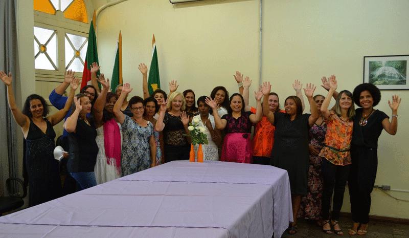 Dezoito trabalhadoras domésticas participaram do curso realizado pela OIT. Fotografia: OIT