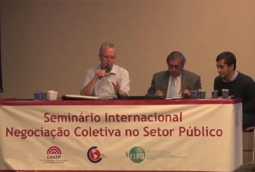 Vídeos de seminário internacional sobre negociação coletiva do CNASP estão disponíveis na internet