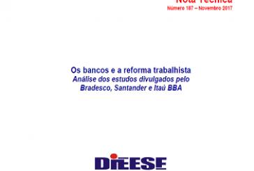 Nota Técnica, n. 187: Os bancos e a reforma trabalhista
