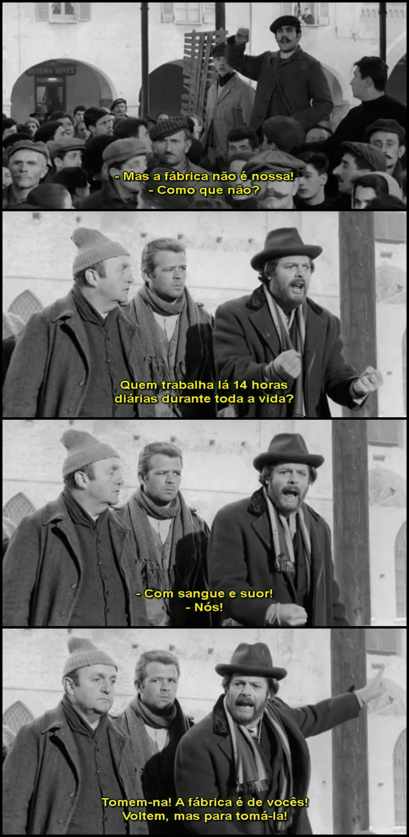 """Extrato do filme """"Os companheiros"""" (1963), de Mario Monicelli. Imagem: Reprodução"""