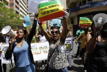 Centenas de domésticas protestam em Beirute contra abusos de patrões