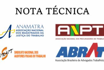 MP da liberdade econômica: Associações emitem nota técnica sobre a minirreforma trabalhista