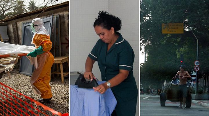 Abr – Fotos Publicas – Perret – Araujo – catadores – agentes funerarios – trabalhadoras domesticas