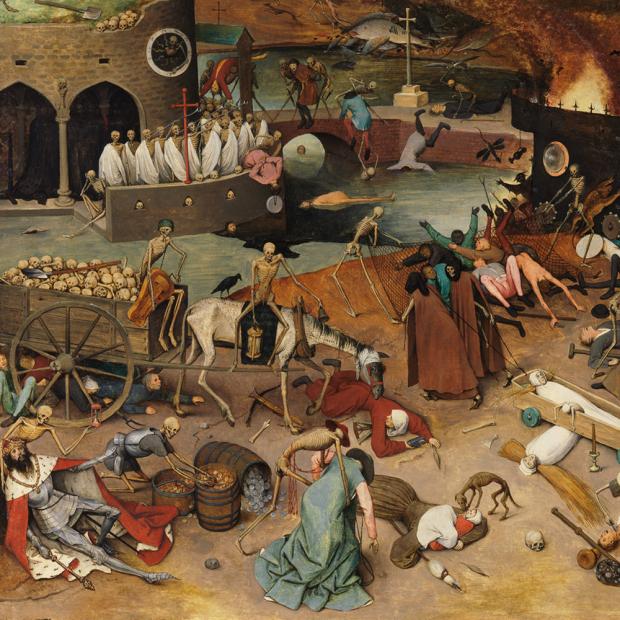 Prado Museum – Bruegel the elder – Pintura a oleo – Detalhe de O triunfo da morte – 1562