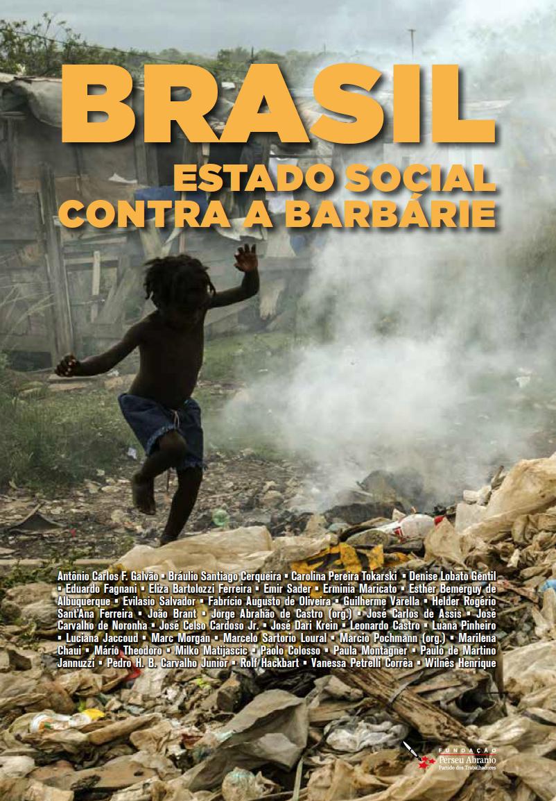 Fundacao Perseu Abramo – capa do livro Brasil Estado social contra a Barbarie – Jorge Abrahao de Castro e Marcio Pochmann – 2020