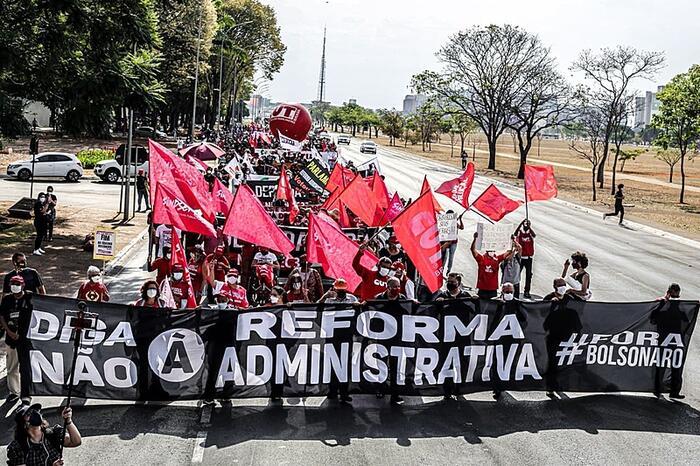 Sintrajud – Rocha – reforma administrativa – manifestacao